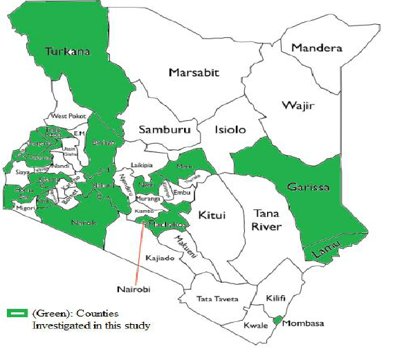 Read more about the article List of Counties in Kenya with their Codes and Map
