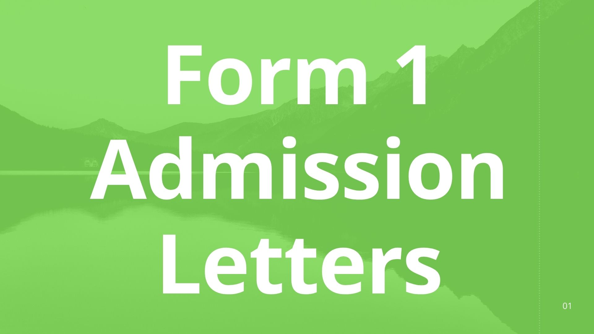 Read more about the article Procedure on How to Download Form 1 Admission Letter 2021
